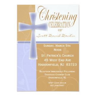 Invitaciones del bautismo/del muchacho del bautizo invitación 12,7 x 17,8 cm