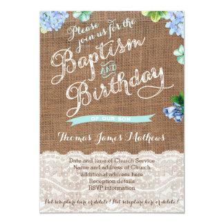 Invitaciones del bautismo y del cumpleaños de la