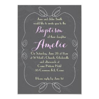 Invitaciones del bautizo del bautismo de la invitación 12,7 x 17,8 cm