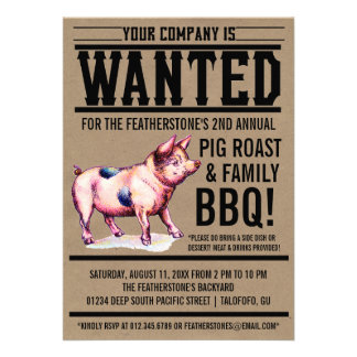 Invitaciones del Bbq de la familia de la carne asa