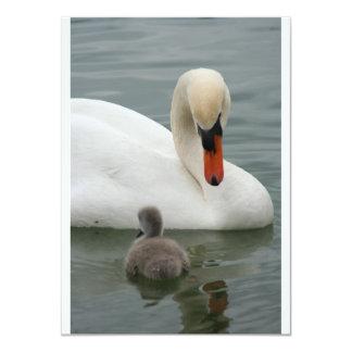 Invitaciones del bebé del cisne invitación 11,4 x 15,8 cm