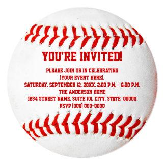 Invitaciones del béisbol invitación 13,3 cm x 13,3cm
