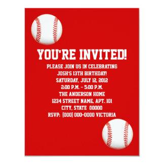 Invitaciones del béisbol invitación 10,8 x 13,9 cm