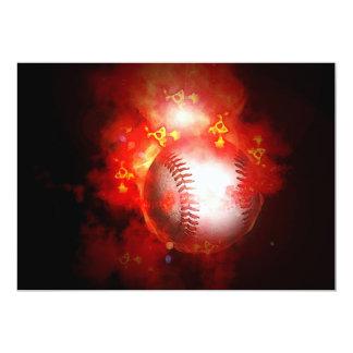 Invitaciones del béisbol invitación 12,7 x 17,8 cm