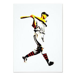 Invitaciones del béisbol - jugador de béisbol invitación 12,7 x 17,8 cm