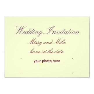 Invitaciones del boda invitación personalizada