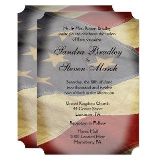 Invitaciones del boda de la bandera americana