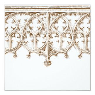 Invitaciones del boda de la catedral de la sepia invitación 13,3 cm x 13,3cm