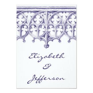 Invitaciones del boda de la catedral de los azules invitación 12,7 x 17,8 cm