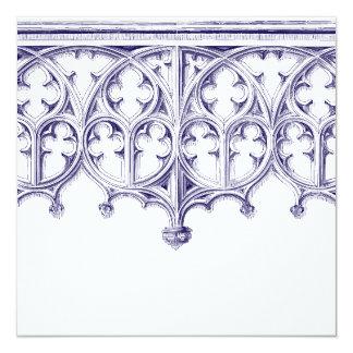 Invitaciones del boda de la catedral de los azules invitación 13,3 cm x 13,3cm