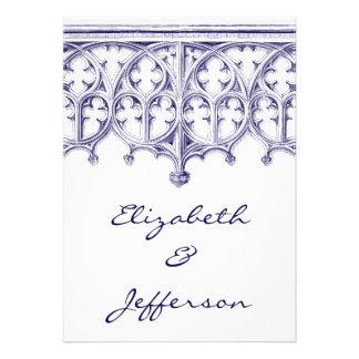 Invitaciones del boda de la catedral de los azules