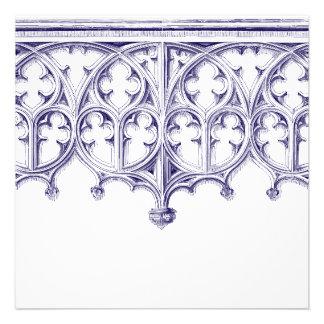 Invitaciones del boda de la catedral de los azules comunicados personalizados