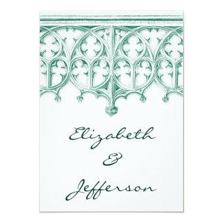 Invitaciones del boda de la catedral del trullo invitación 12,7 x 17,8 cm