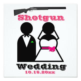 Invitaciones del boda de la escopeta de las rosas invitación 13,3 cm x 13,3cm