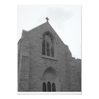 Invitaciones del boda de la iglesia invitación 12,7 x 17,8 cm