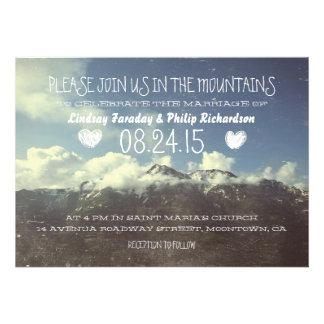 invitaciones del boda de la montaña comunicado personal
