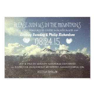 invitaciones del boda de la montaña invitación 12,7 x 17,8 cm