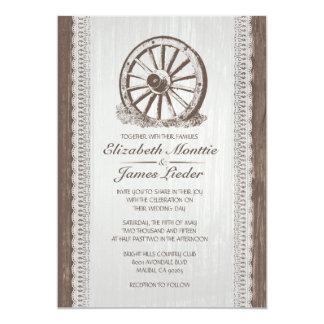 Invitaciones del boda de la rueda de carro del invitación 12,7 x 17,8 cm