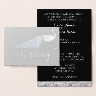 Invitaciones del boda de la tipografía del pavo