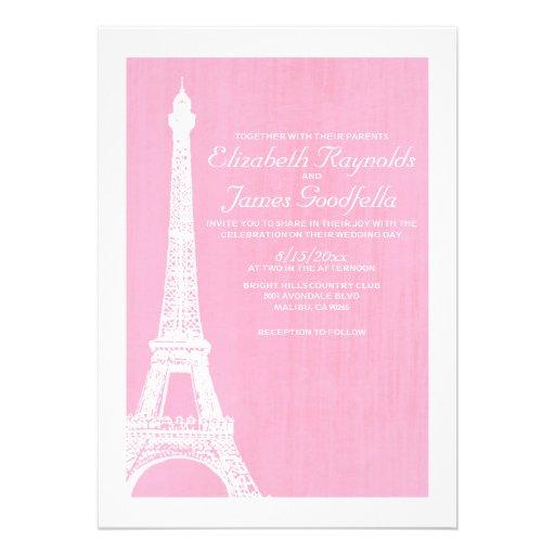 Invitaciones del boda de la torre Eiffel