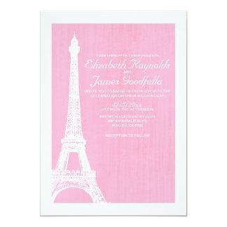 Invitaciones del boda de la torre Eiffel Invitación 12,7 X 17,8 Cm
