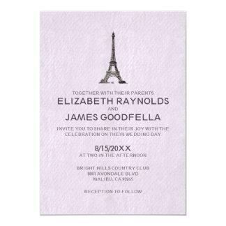 Invitaciones del boda de París Invitación 12,7 X 17,8 Cm