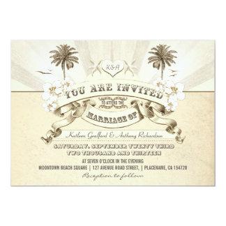 invitaciones del boda de playa de la tipografía invitación 12,7 x 17,8 cm