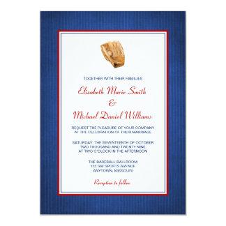 Invitaciones del boda del béisbol invitación 12,7 x 17,8 cm