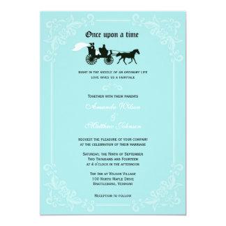 Invitaciones del boda del caballo y del carro del invitación 12,7 x 17,8 cm