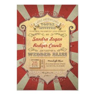 invitaciones del boda del carnaval invitación 12,7 x 17,8 cm