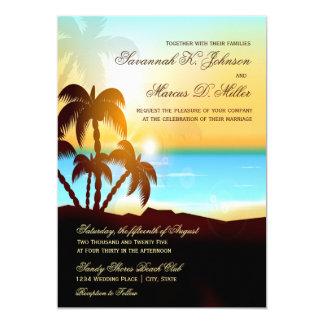 Invitaciones del boda del destino de las palmeras