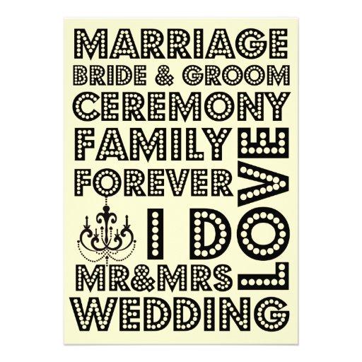 Invitaciones del boda del estilo de Vegas Invitación