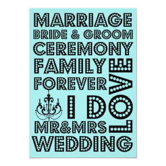 Invitaciones del boda del estilo de Vegas Comunicados