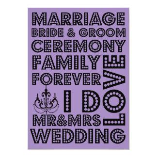 Invitaciones del boda del estilo de Vegas Invitacion Personalizada