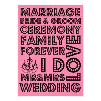 Invitaciones del boda del estilo de Vegas
