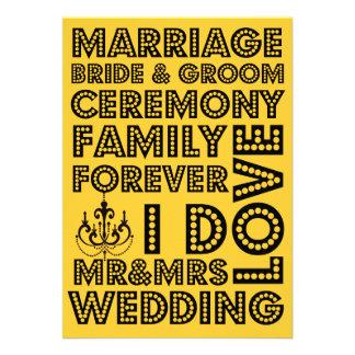 Invitaciones del boda del estilo de Vegas Anuncio Personalizado
