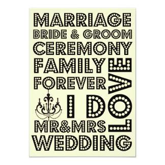 Invitaciones del boda del estilo de Vegas Invitación 12,7 X 17,8 Cm