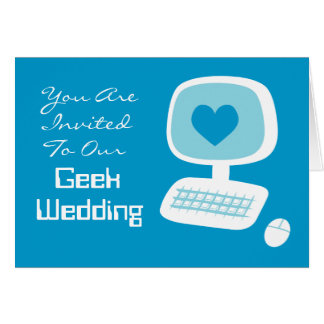 Invitaciones del boda del friki tarjeta