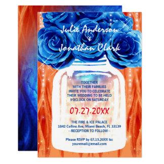 Invitaciones del boda del fuego y del hielo el |