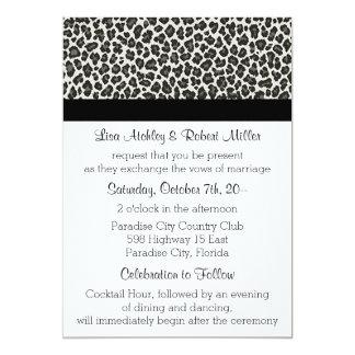 Invitaciones del boda del LEOPARDO del estampado Invitación 12,7 X 17,8 Cm