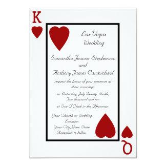 Invitaciones del boda del rey/de la reina del invitación 12,7 x 17,8 cm