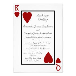 Invitaciones del boda del rey de la reina del naip
