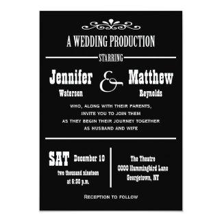 Invitaciones del boda del teatro del vintage de la comunicados personales