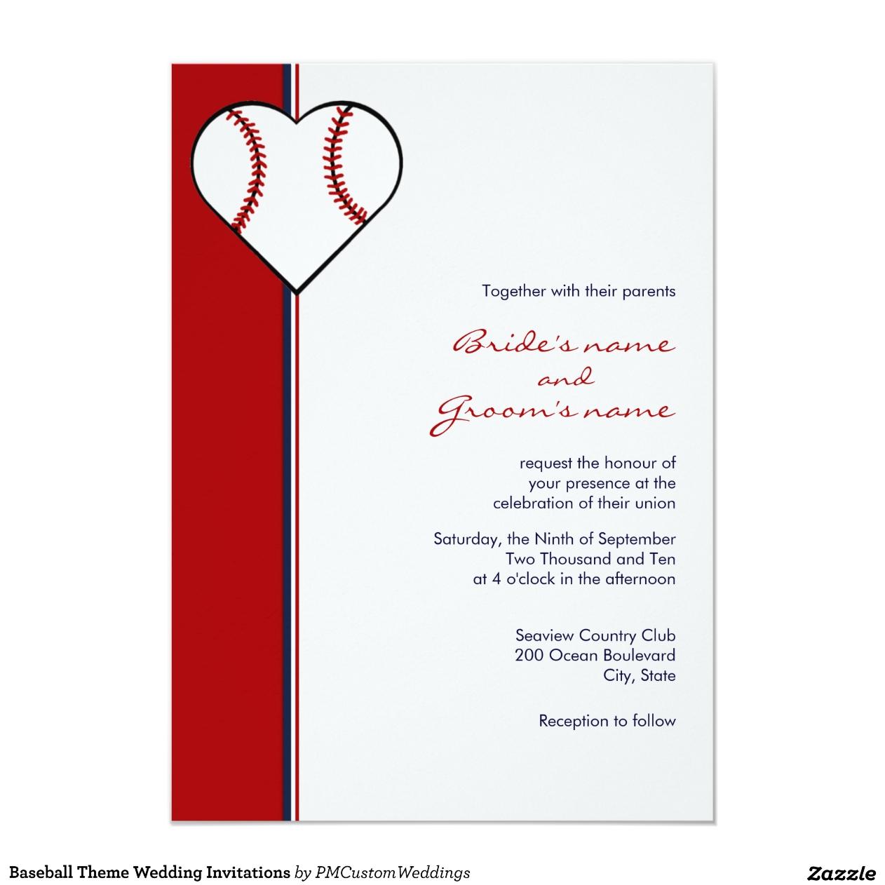 Béisbol Invitaciones de boda