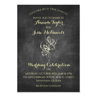 Invitaciones del boda del tulipán del drenaje de