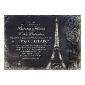 Invitaciones del boda del vintage de la torre invitación 12,7 x 17,8 cm