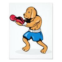 Invitaciones del boxeo del perro