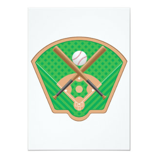 Invitaciones del campo de béisbol invitación 12,7 x 17,8 cm