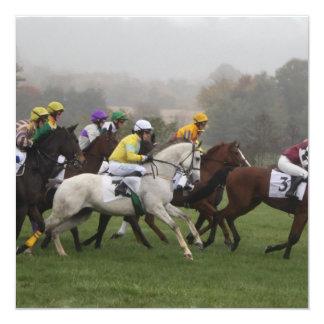 Invitaciones del campo del caballo de raza invitación personalizada