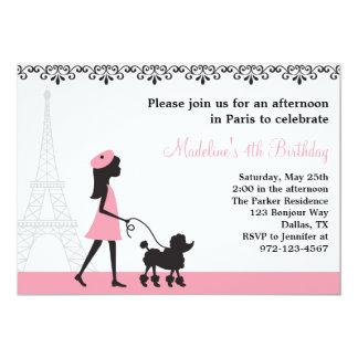 Invitaciones del caniche de París Comunicado Personalizado